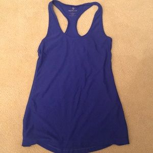 90 degree navy blue athletic tank top